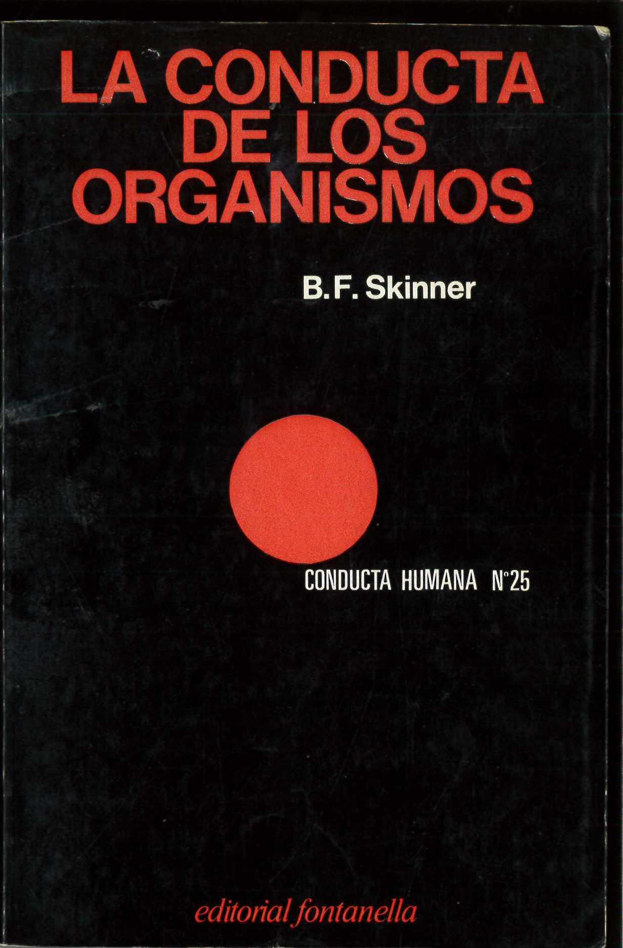 La conducta de los organismos