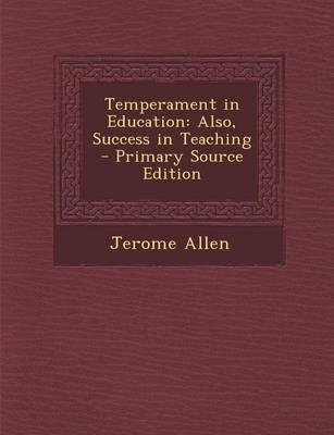 Temperament in Education