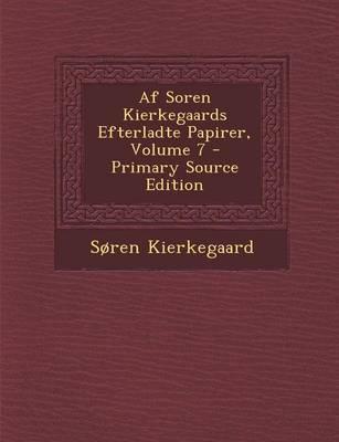 AF Soren Kierkegaard...