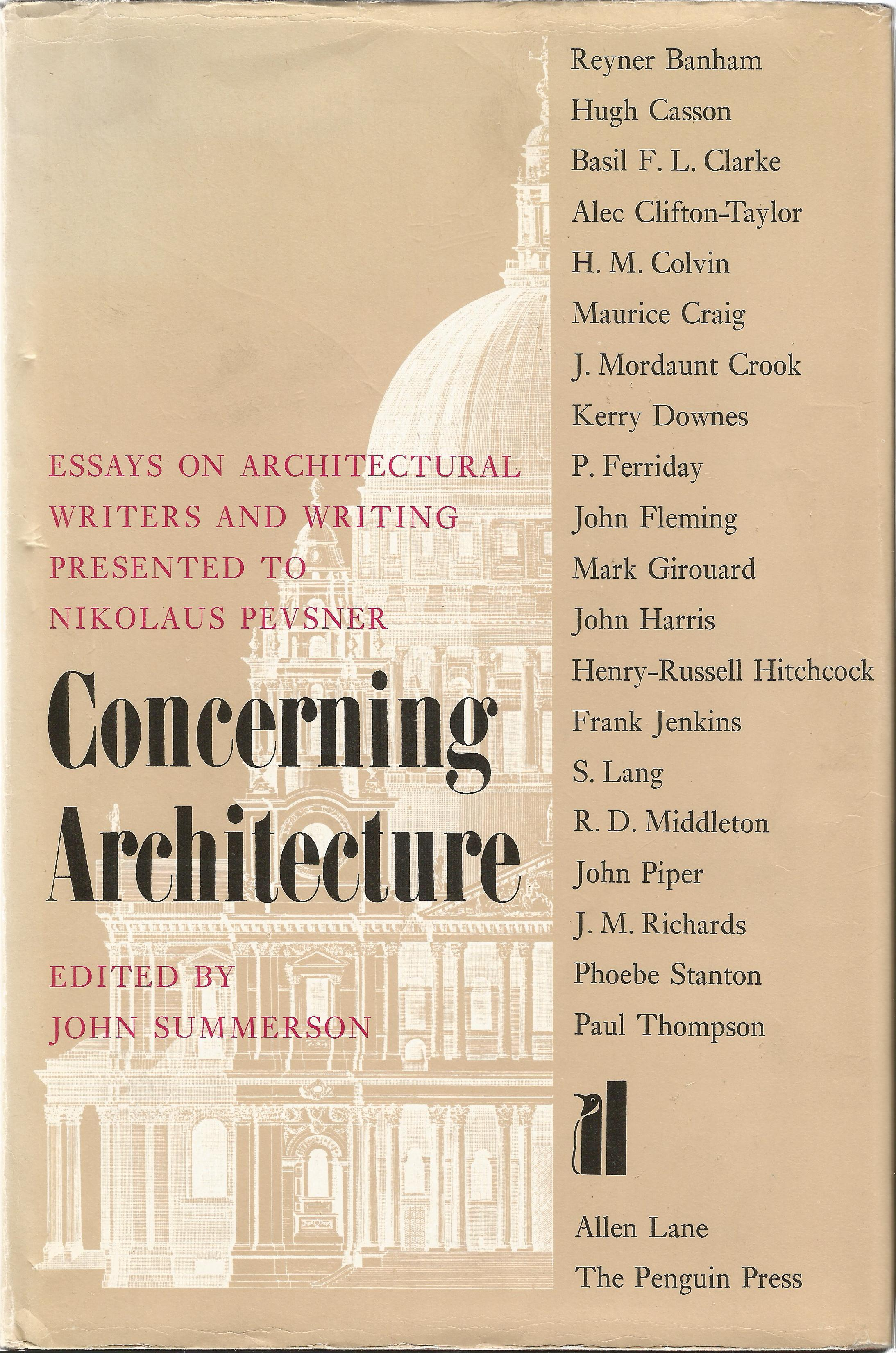 Concerning Architecture