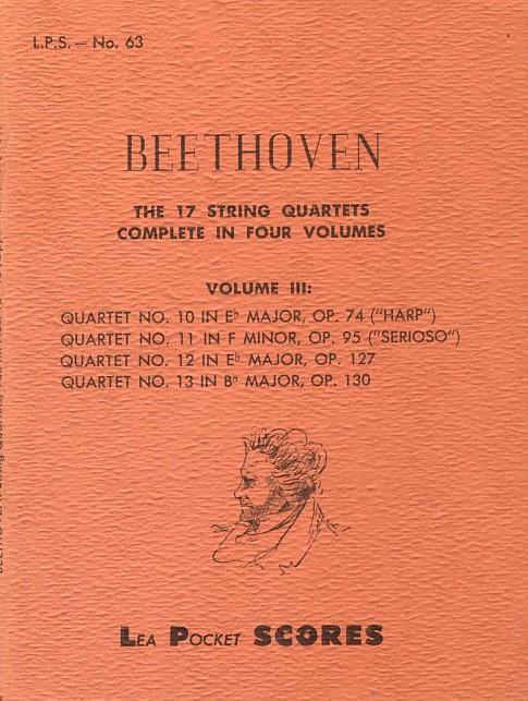 The 17 String Quartets (scores)