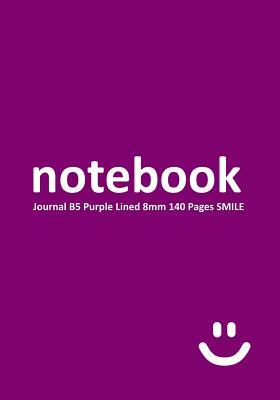 Notebook Journal B5 Purple Smile