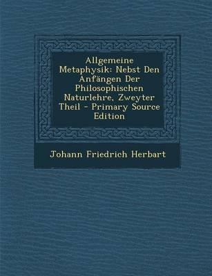 Allgemeine Metaphysi...