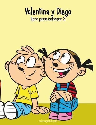 Valentina Y Diego Libro Para Colorear