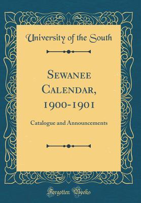 Sewanee Calendar, 1900-1901