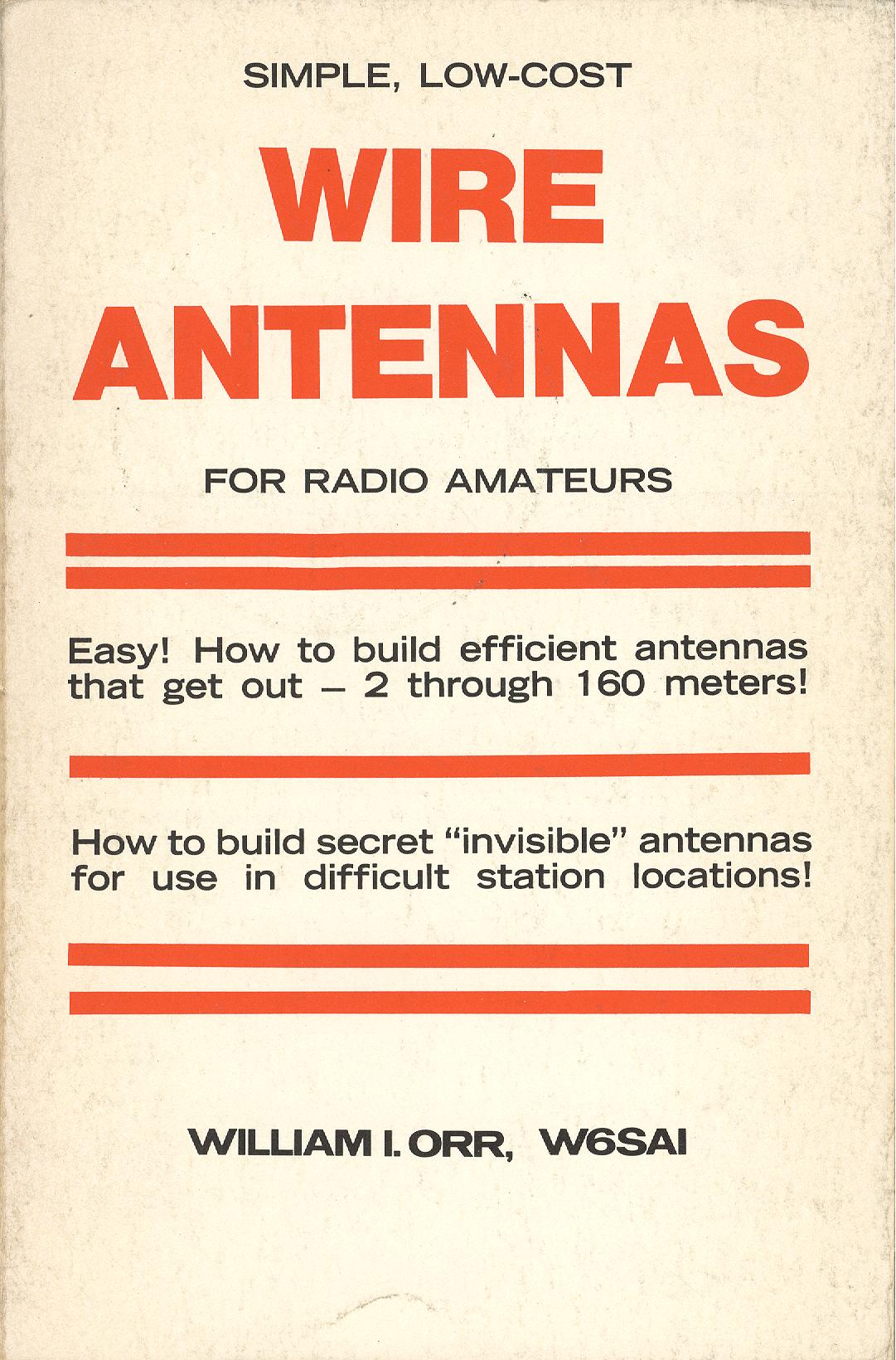 Wire Antennas for Radio Amateurs