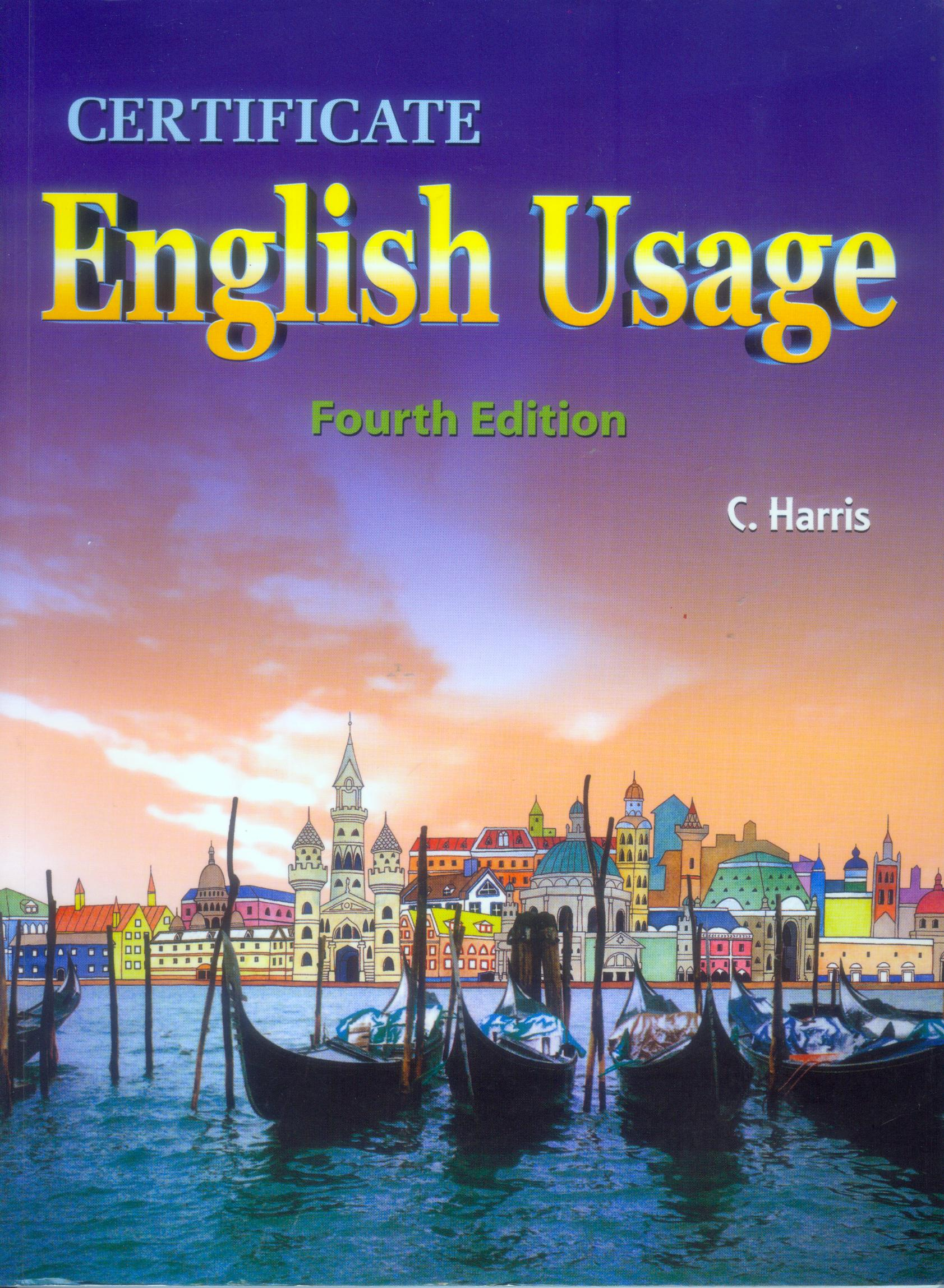 Certificate English Usage
