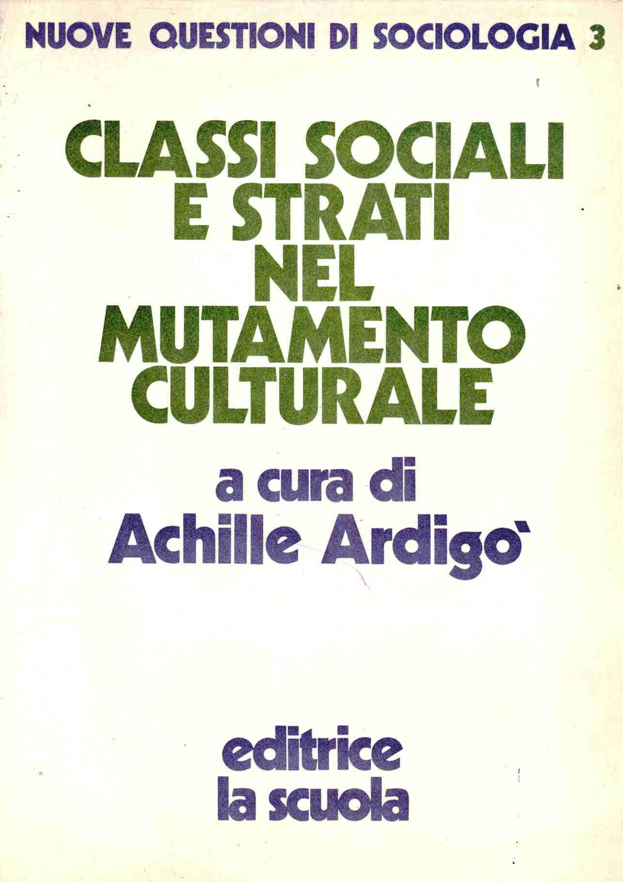 Classi sociali e strati nel mutamento culturale