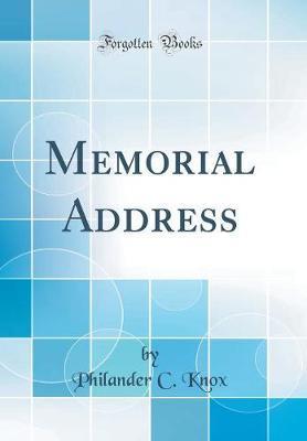 Memorial Address (Cl...