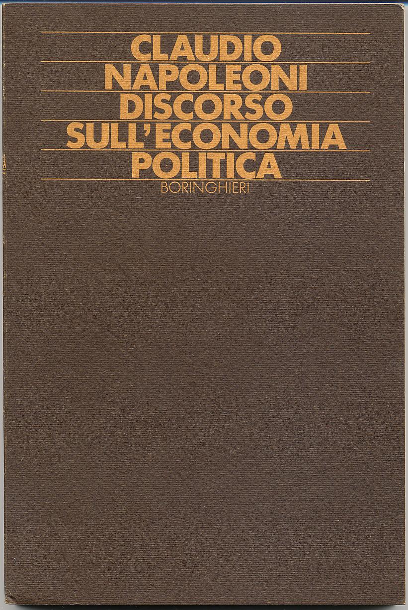 Discorso sull'economia politica