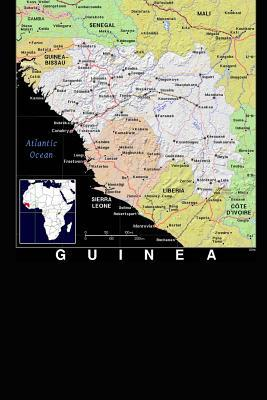 Modern Day Color Map of Guinea on the West Coast of Africa Journal