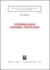L'interpretazione conforme a Costituzione
