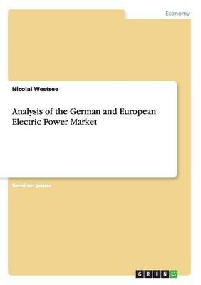 Analysis of the German and European Electric Power Market