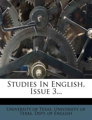 Studies in English, Issue 3...