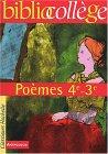 Poèmes, 4ème, 3èm...