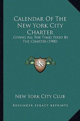 Calendar of the New York City Charter