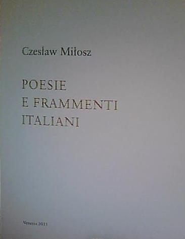 Poesie e frammenti italiani