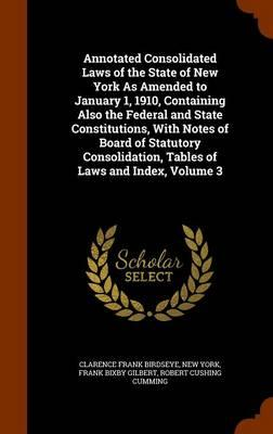 Annotated Consolidated Laws of the State of New York