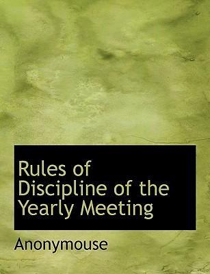 Rules of Discipline ...