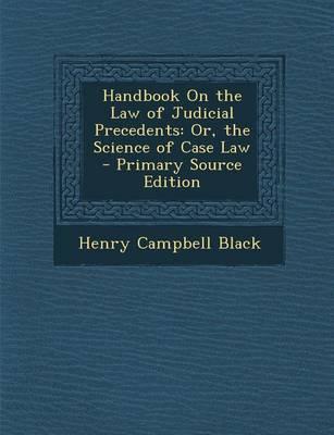 Handbook on the Law ...