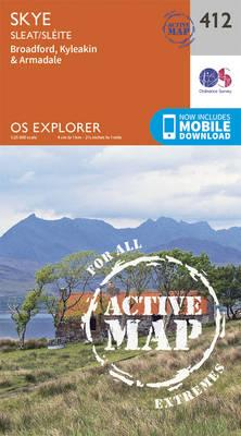 OS Explorer Map Active (412) Skye - Sleat
