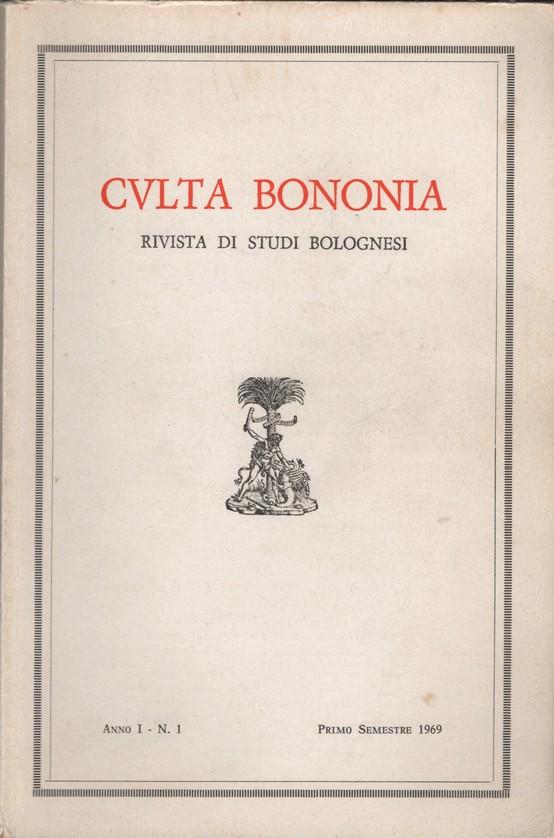 Culta Bononia: rivista di studi bolognesi
