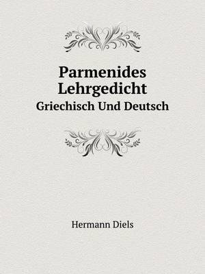 Parmenides Lehrgedicht Griechisch Und Deutsch