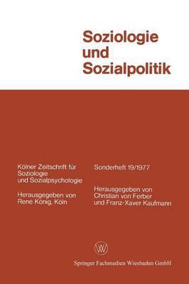 Soziologie Und Sozialpolitik