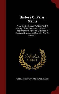 History of Paris, Maine
