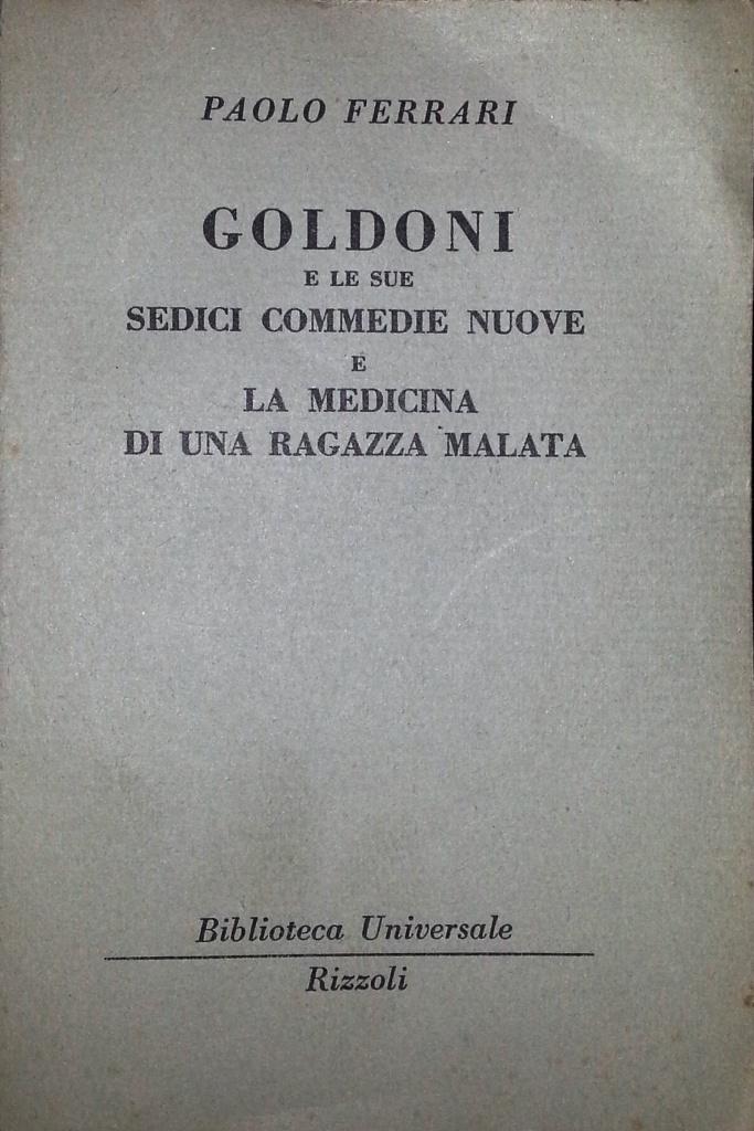 Goldoni e le sue sed...