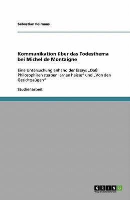 Kommunikation über das Todesthema bei Michel de Montaigne