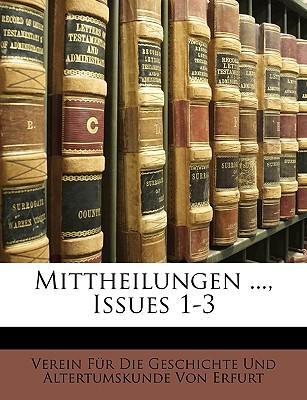 Mittheilungen ..., Issues 1-3