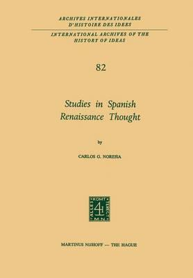 Studies in Spanish Renaissance Thought