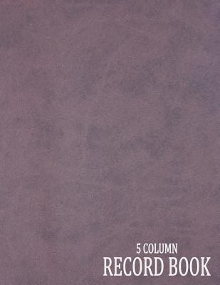 5 Column Record Book