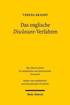Das Englische disclosure-verfahren