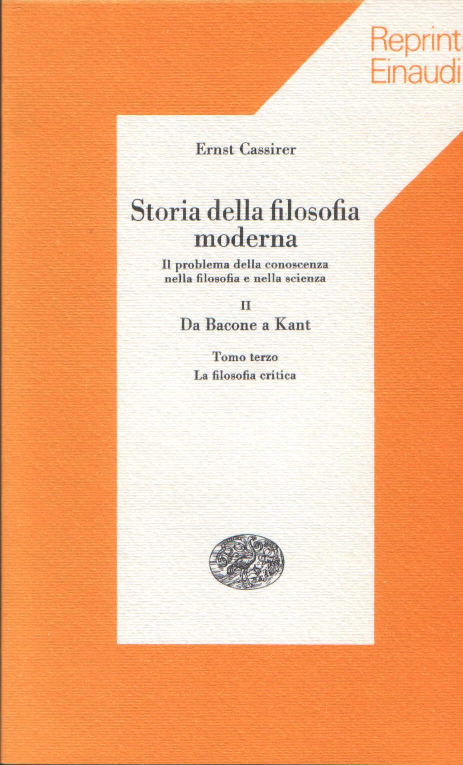 Storia della filosofia moderna vol. II, tomo terzo