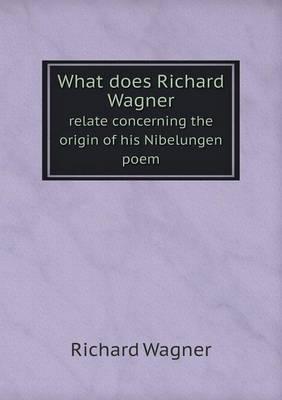 What Does Richard Wa...