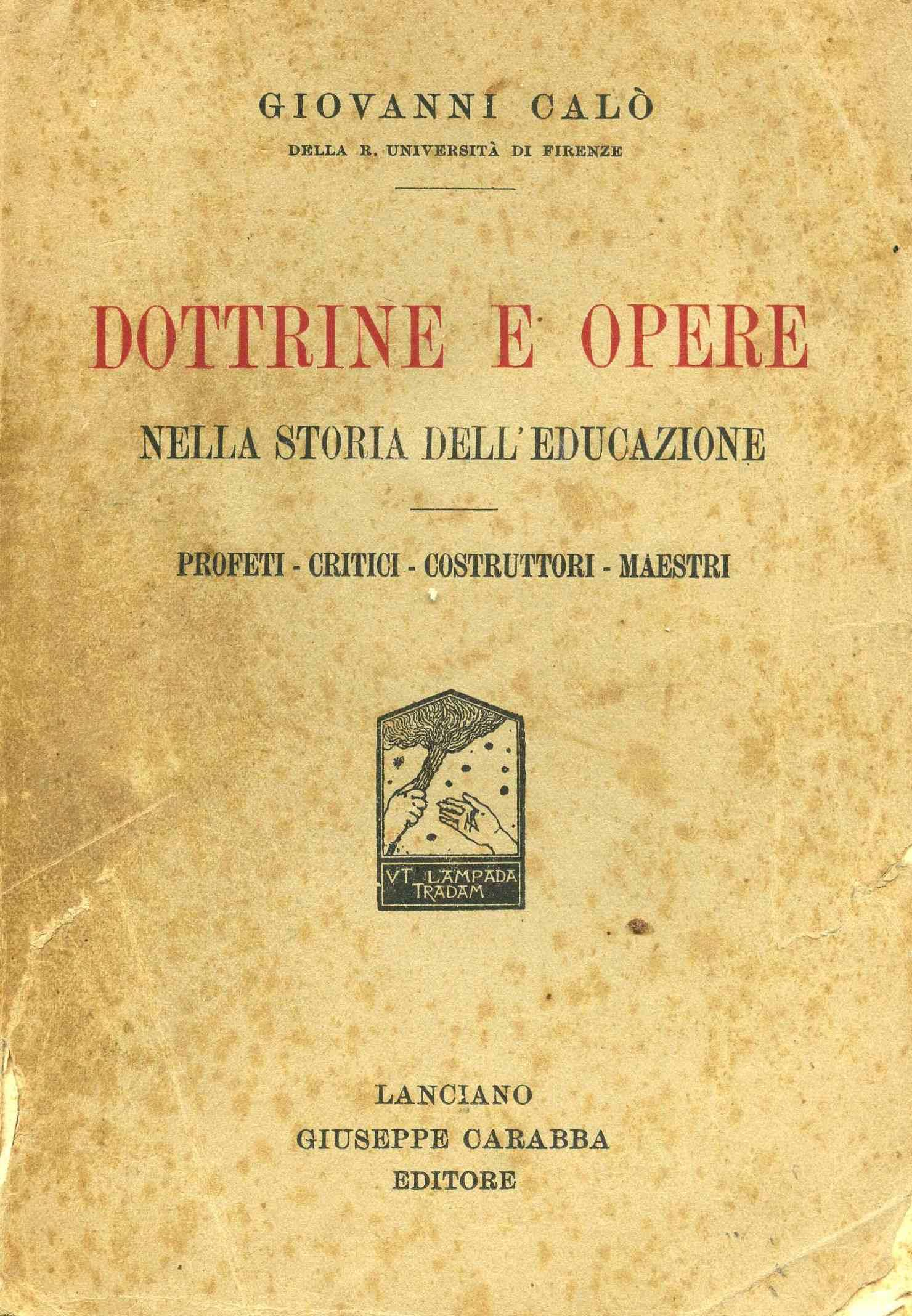 Dottrine e opere nella storia dell'educazione