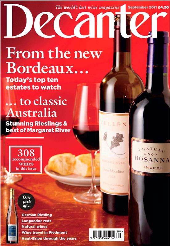 Decanter Magazine, September 2011