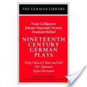Nineteenth century German plays