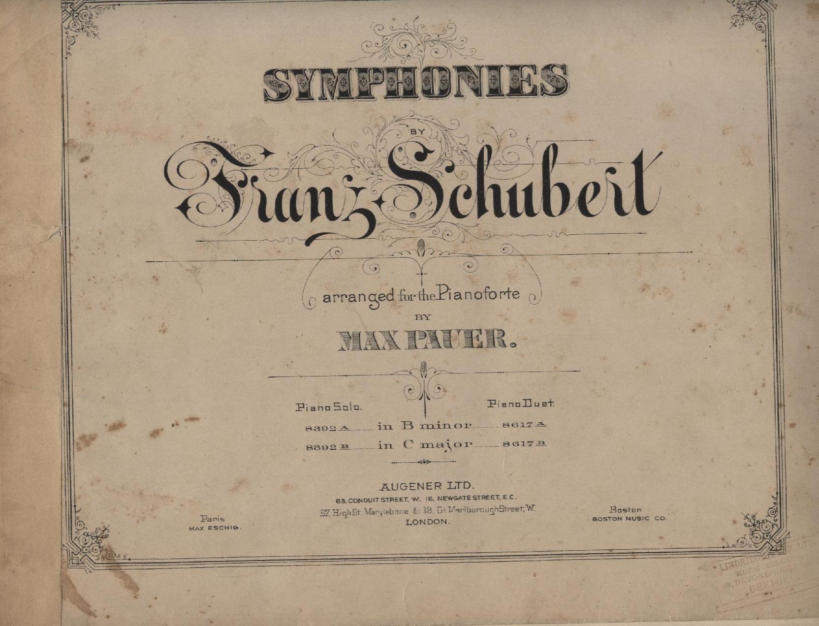 Symphoniie in B minor Piano Duet