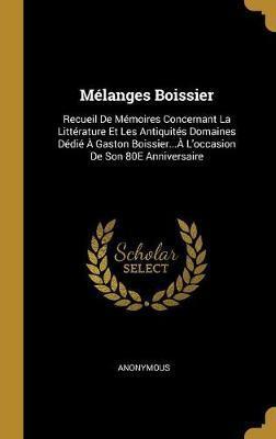 Mélanges Boissier