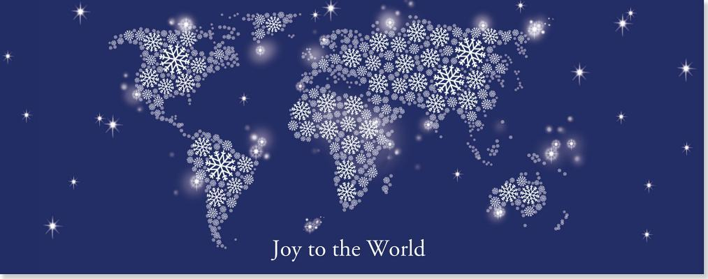 Joy to the World Panoramic Boxed Holiday Cards
