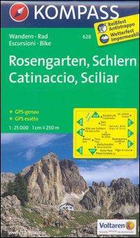 Carta escursionistica n. 628. Catinaccio, Sciliar-Rosengarten, Schlern 1