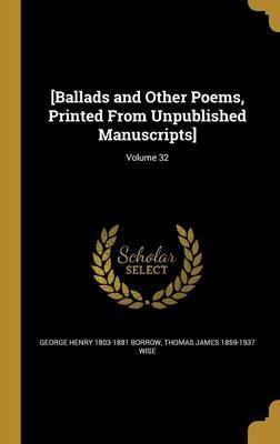 BALLADS & OTHER POEMS PRINTED