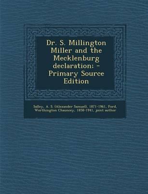 Dr. S. Millington Mi...