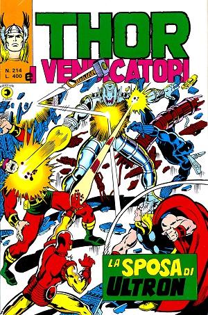 Thor e i Vendicatori (Il Mitico Thor) n. 214