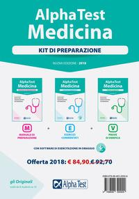Alpha Test. Medicina. Kit di preparazione. Con software di simulazione