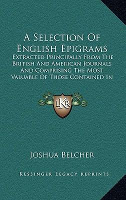 A   Selection of English Epigrams