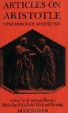 Articles on Aristotle